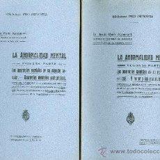 Libros antiguos: DR. JESÚS MARÍN AGRAMUNT. LA ANORMALIDAD ESCOLAR. MEMORIA PREMIADA. 2 VOLS. MADRID, C. 1915. Lote 16952778