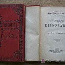 Libros antiguos: NOVELAS EJEMPLARES. CERVANTES SAAVEDRA (MIGUEL DE). Lote 16002702