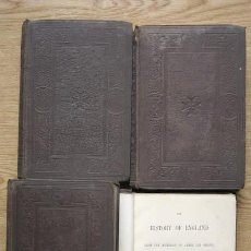 Libros antiguos: THE HISTORY OF ENGLAND FROM THE ACCESSION OF JAMES THE SECOND. VOLUMES I, II, III, IV. MACAULAY,LORD. Lote 16002932