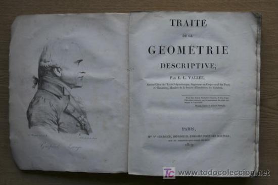 TRAITÉ DE LA GÉOMETRIE DESCRIPTIVE. VALLÉE (L. L.) (Libros Antiguos, Raros y Curiosos - Ciencias, Manuales y Oficios - Otros)