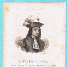 Libros antiguos: LÁMINA PERTENECIENTE A LA HISTORIA GENERAL DEL REINO DE MALLORCA. JUAN GUASCH Y PASCUAL. PALMA, 1840. Lote 16181167