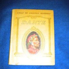 Libros antiguos: VIDA DE DANTE.. Lote 16267440