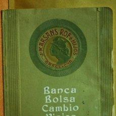 Libros antiguos: BANCA BOLSA CAMBIO VIAJES J. MARSANS BARCELONA GUIA DE 1912. Lote 16369150