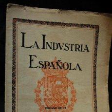 Libros antiguos: LA INDUSTRIA ESPAÑOLA JUNIO DE 1917 N. 3 CAMARA OFICIAL DE INDUSTRIA DE BARCELONA. Lote 16394931