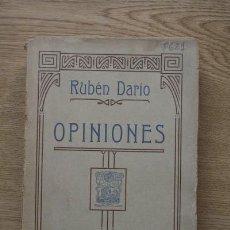 Libros antiguos: OPINIONES. DARÍO (RUBÉN). Lote 16397610
