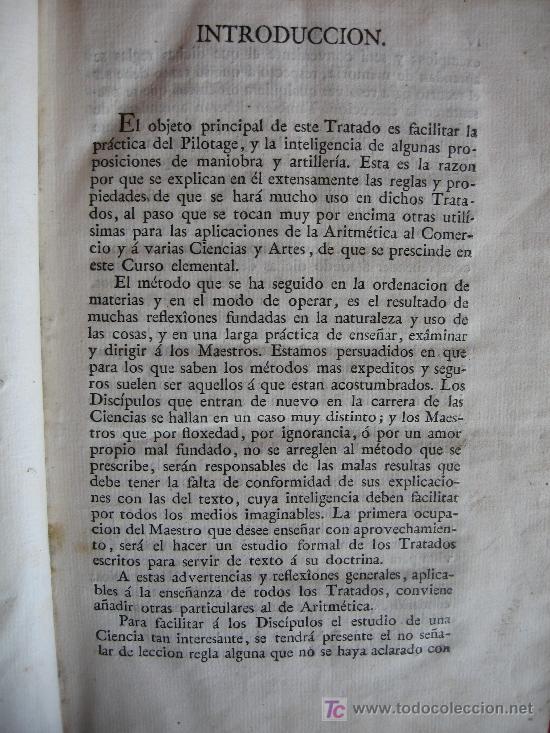 Libros antiguos: CURSO DE ESTUDIOS ELEMENTALES DE MARINA - GRABRIEL CISCAR - TOMO I Y TOMO II - 1803 - Foto 4 - 16331152