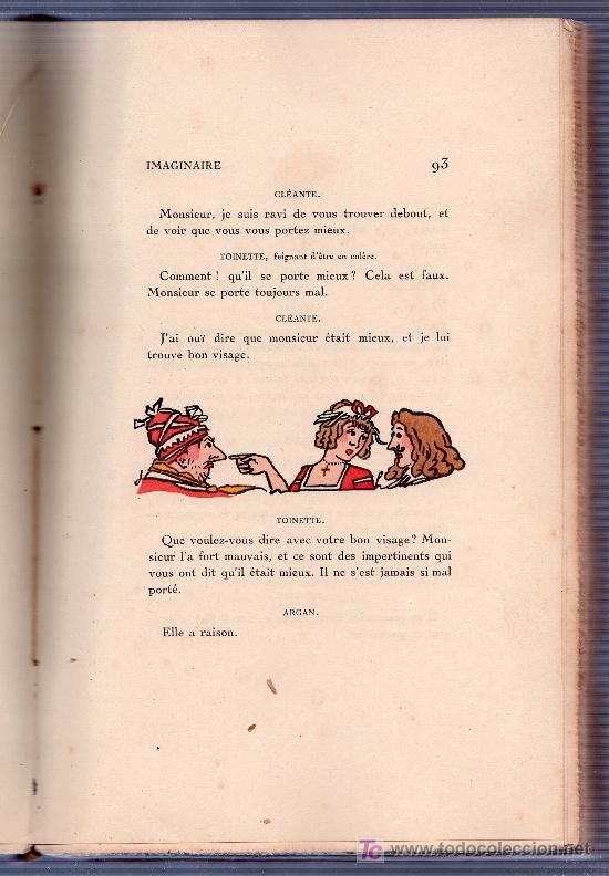 Libros antiguos: LE MALADE IMAGINAIRE PAR MOLIERE. ÉDITION LIMITÉE Nº 511. EDITIONS RENE KIEFFER. PARIS 1921 - Foto 7 - 26002021