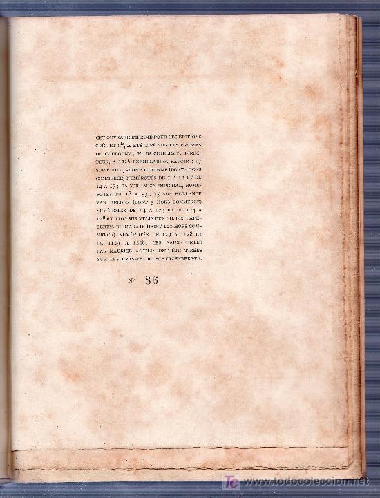 Libros antiguos: RIEN QU'UNE FEMME PAR FRANCIS CARCO. ÉDITION LIMITÉE Nº 86. LES EDITIONS G. CRES ET CIE. PARIS 1923 - Foto 7 - 26002022