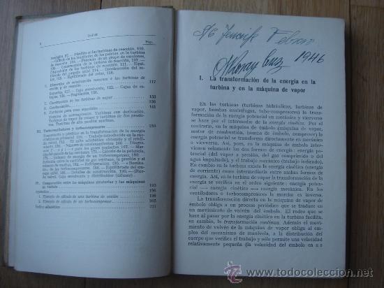 Libros antiguos: TURBINAS DE VAPOR Y TURBOCOMPRESORES. MANUALES TÉCNICOS LABOR. DR. ING. H. BAER. 130 FIGURAS. 1926. - Foto 3 - 25907510