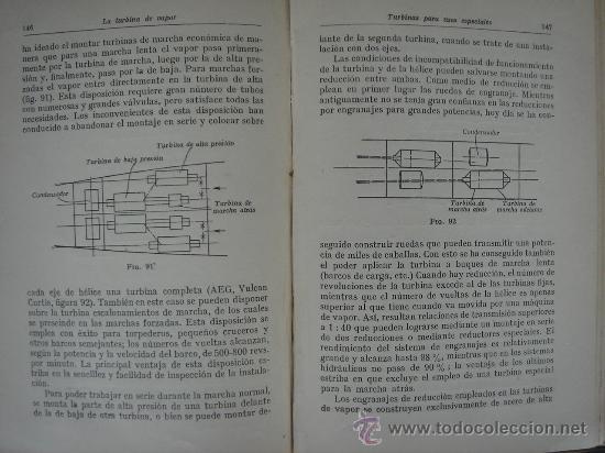 Libros antiguos: TURBINAS DE VAPOR Y TURBOCOMPRESORES. MANUALES TÉCNICOS LABOR. DR. ING. H. BAER. 130 FIGURAS. 1926. - Foto 7 - 25907510