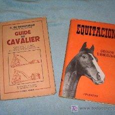 Libros antiguos: LOTE ANTIGUOS LIBROS DE EQUITACION - GREGOR ROMASZKAN - ILUSTRADOS.. Lote 25058308