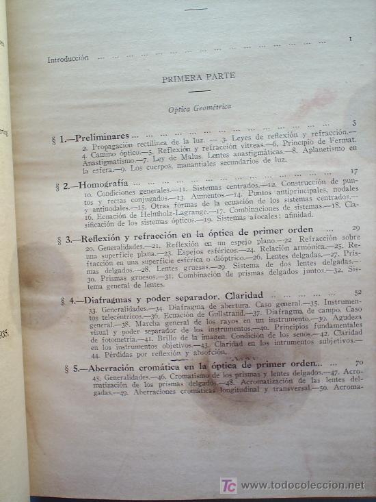 Libros antiguos: OPTICA APLICADA 1935 JOSE MAÑAS Y BONVI , EDITORIAL ALTES-CINEMATOGRAFIA , FOTOTIPIA ETC - Foto 2 - 25732718