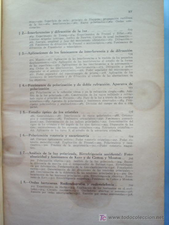 Libros antiguos: OPTICA APLICADA 1935 JOSE MAÑAS Y BONVI , EDITORIAL ALTES-CINEMATOGRAFIA , FOTOTIPIA ETC - Foto 5 - 25732718