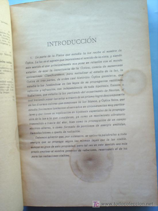 Libros antiguos: OPTICA APLICADA 1935 JOSE MAÑAS Y BONVI , EDITORIAL ALTES-CINEMATOGRAFIA , FOTOTIPIA ETC - Foto 3 - 25732718