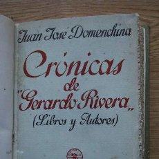 Libros antiguos: CRÓNICAS DE