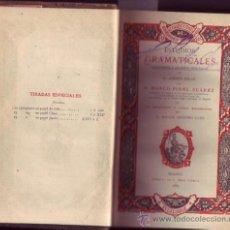 Libros antiguos: ESTUDIOS GRAMATICALES. INTRODUCCION A LAS OBRAS FILOLOGICAS DE D. ANDRES BELLO. MARCO FIDEL SUAREZ.. Lote 21203537