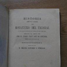Libros antiguos: HISTORIA PRIMITIVA Y EXACTA DEL MONASTERIO DEL ESCORIAL. SIGÜENZA (FRAY JOSÉ DE). Lote 24466730