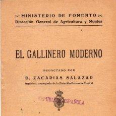 Alte Bücher - SOBRECARGA,REPUBLICA ESPAÑOLA,EL GALLINERO MODERNO,MINISTERIO DE FOMENTO.ZACARIAS SALAZAR - 22982960