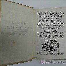 Alte Bücher - ESPAÑA SAGRADA. TOMO XIX ESTADO ANTIGUO DE LA IGLESIA IRIENSE COMPOSTELANA 1765. 1ª Ed. GALICIA - 26539761