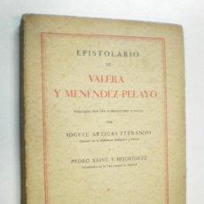 Libros antiguos: EPISTOLARIO DE VALERA Y MENEDEZ PELAYO MADRID 1930 COMPAÑIA IBERO AMERICANA DE PUBLICACIONES. Lote 15146364