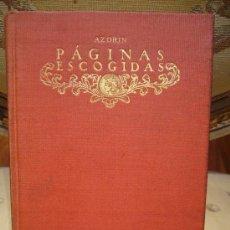 Libros antiguos: AZORIN ,PAGINAS ESCOGIDAS. Lote 18155094
