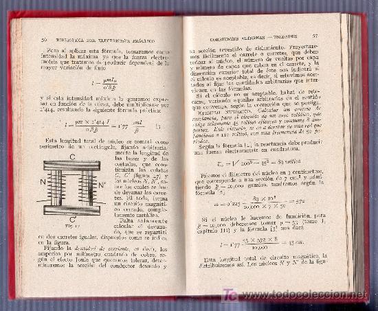 Libros antiguos: BIBLIOTECA DEL ELECTRICISTA PRACTICO Nº 2. CORRIENTES ALTERNAS UNIDADES TOMO II. GALLACH EDITOR - Foto 2 - 18307318