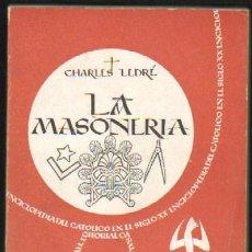 Libros antiguos: LA MASONERIA (A-MAS-026). Lote 18344843