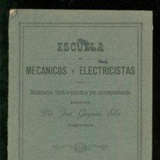 Libros antiguos: MECANICA APLICADA. ESCUELA DE MECANICOS Y ELECTRICISTAS. JOSE GARGANTA SIBIS. CINEMATICA.. Lote 18406464