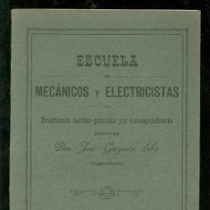 Libros antiguos: MECANICA APLICADA. ESCUELA DE MECANICOS Y ELECTRICISTAS. JOSE GARGANTA SIBIS. DINAMICA.. Lote 18406493