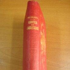 Libros antiguos: CONTES DE L ADOLESCENCE. CHOISIS DE MISS EDGEWORTH. PARIS. LIBRAIRIE HACHETTE 1869.. Lote 23833073
