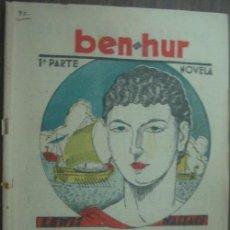 Libros antiguos: BEN.HUR (1ª Y 2ª PARTE). WALLACE, LEWIS. 1933. Lote 18432251