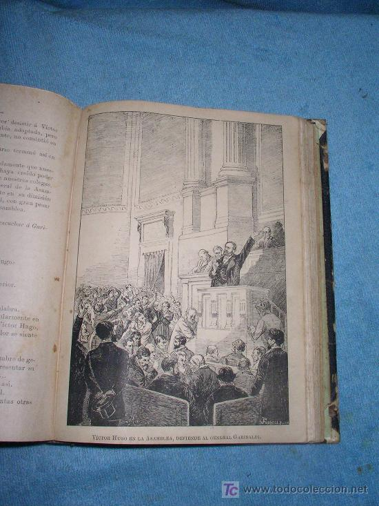 Libros antiguos: HISTORIA DE VICTOR HUGO - CRISTOBAL LITRAN - AÑO 1886 - ILUSTRADA CON MAGNIFICAS LAMINAS. - Foto 6 - 26557258