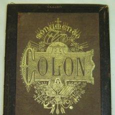 Libros antiguos: CUADERNO ANTIGUO SUSCRITORES MONUMENTO A COLON-J.SEIX Y CIA. EDITORES - BARCELONA CIRCA 1870. Lote 26954557