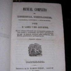 Libros antiguos: M.GARDELI Y MAD.GACON-DUFOUR,MANUAL DE REPOSTEROS,,MANUAL COMPLETO DE LICORISTAS,DESTILADORES,PASTEL. Lote 26701635