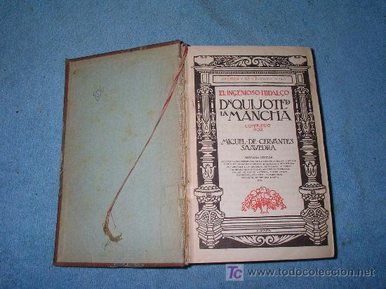 Libros antiguos: DON QUIJOTE DE LA MANCHA - ANTIGUA EDICION AÑO 1915. - Foto 2 - 26918510
