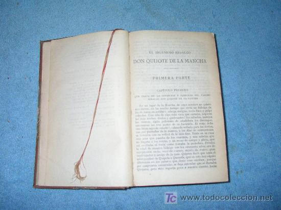 Libros antiguos: DON QUIJOTE DE LA MANCHA - ANTIGUA EDICION AÑO 1915. - Foto 3 - 26918510