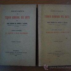 Libros antiguos: RESUMEN DE TEORÍA GENERAL DEL ARTE. JOSÉ JORDÁN URRÍES Y AZARA. 2 TOMOS. MADRID 1930-1933. Lote 21291922