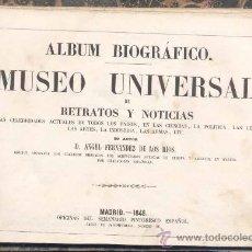 Libros antiguos: 1848.- ÁLBUM BIOGRÁFICO -MUSEO UNIVERSAL DE RETRATOS Y NOTICIAS DE LAS CELEBRIDADES ACTUALES. Lote 19573172
