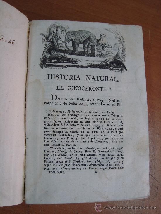 Libros antiguos: HISTORIA NATURAL, GENERAL Y PARTICULAR. CONDE DE BUFFON. TOMO XIII. IBARRA 1798. - Foto 4 - 23797458