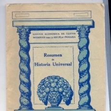 Libros antiguos: RESUMEN DE HISTORIA UNIVERSAL / EDITORIAL SEIX & BARRAL. BARCELONA. Lote 27249670