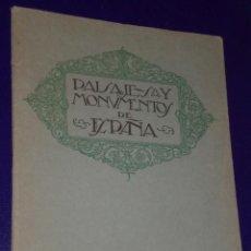 Libros antiguos: EL ESCORIAL. PAISAJES Y MONUMENTOS DE ESPAÑA.CARPETA CON 10 VISTAS DISTINTAS.. Lote 26776696