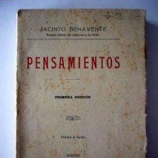 Libros antiguos: PENSAMIENTOS. JACINTO BENAVENTE. LIB. HERNANDO. MADRID, 1931. 229 PP. 12 X 19 CM.. Lote 19994627