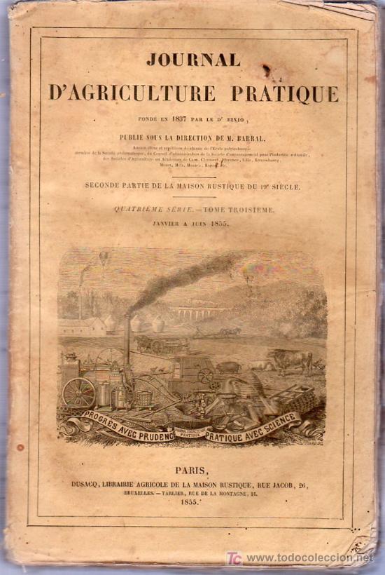 JOURNAL D`AGRICULTURE PRATIQUE. 4º SERIE. 1855. (Libros Antiguos, Raros y Curiosos - Ciencias, Manuales y Oficios - Otros)