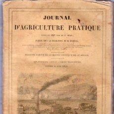 Libros antiguos: JOURNAL D`AGRICULTURE PRATIQUE. 4º SERIE. 1855.. Lote 20227920