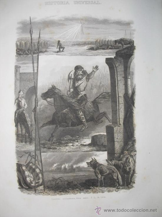 Libros antiguos: 1848 EL NUEVO ANQUETIL HISTORIA UNIVERSAL 42 LÁMINAS GRABADAS AL ACERO - Foto 3 - 26151699