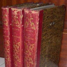 Libros antiguos: OEUVRES 3T POR VICTOR HUGO DE MELINE, CANS ET COMPAGNIE EN BRUXELLES 1842 (IDIOMA FRANCÉS). Lote 26467419