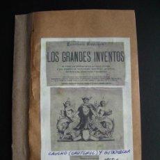 Libros antiguos: 1870C.-CAUCHO.GUTAPERCHA.GRANDES INVENTOS. 11 GRABADOS.ORIGINAL. Lote 27166237