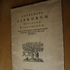 Libros antiguos: BIBLIOFILIA ELZEVIER FACSÍMIL DE 1881 EDICIÓN LIMITADA Y NUMERADA A 250 EJEMPLARES. Lote 26716030