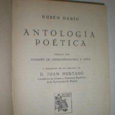Libros antiguos: RUBEN DARIO ANTOLOGIA POETICA FORMADA POR JOAQUIN DE ENTRAMBASAGUAS Y PEÑA MADRID 1927 RENACIMIENTO. Lote 21139840