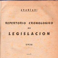 Libros antiguos: ARANZADI. REPERTORIO CRONOLOGICO DE LEGISLACION 1936. SEGUNDA EDICION. 25 X 18 CM.. Lote 21511484